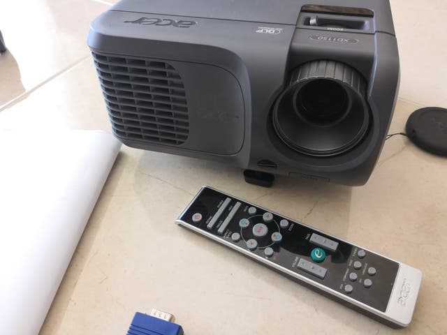 data show projector very new