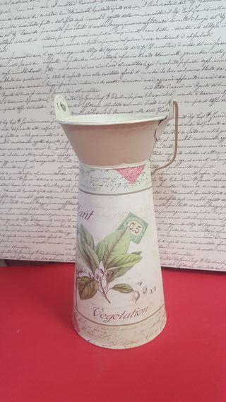 Jarrón tipo lechera vintage para flor seca