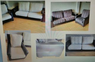 Sofa 3 plazas y sillon
