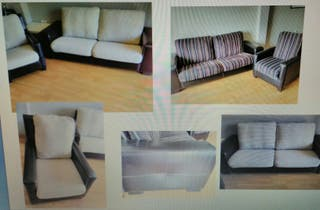 Sofa 3 plazas y sillon