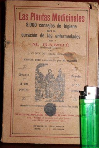 libro antiguo-1918 plantas medicinales