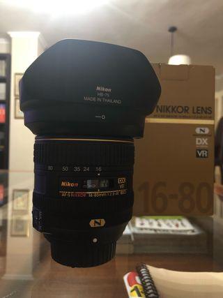 Objetivo Nikon 16-80mm 2,8/4 f