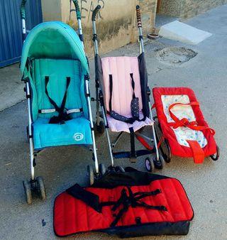 lote de silletas, amaca y funda para niños