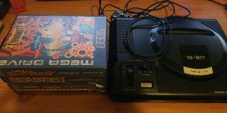 Consola Megadrive (incompleta) + 3 Videojuegos