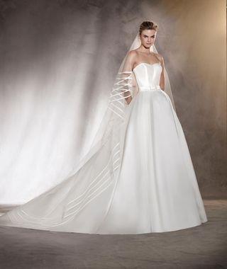 vestido de novia, marca pronovias