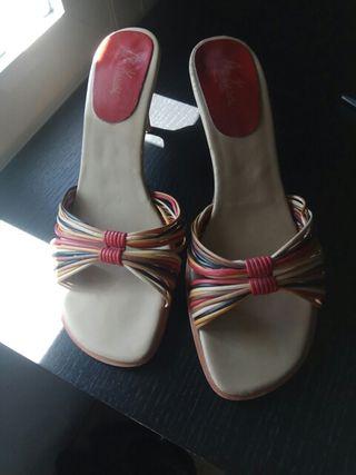 zapato sandalia tacón t 40