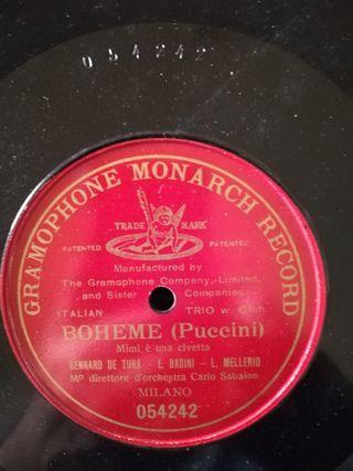 Boheme. Disco pizarra gramófono