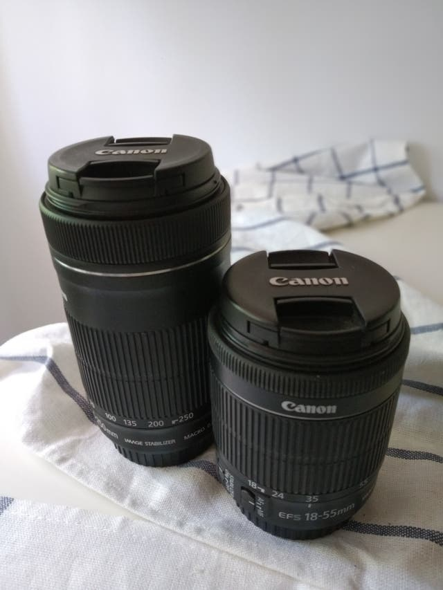 objetivos Canon 18-55 y 55-250 STM y estabilizador