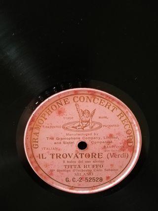 Il trovatore. Disco de pizarra gramófono