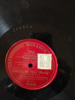 Guglielmo Tell. Disco pizarra gramófono