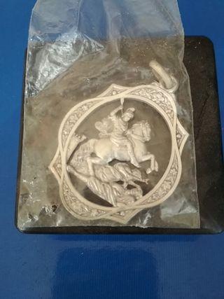 Medalla plata San Jorge San Jordi Alcoy