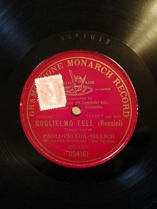 Italian terzet with orq. Disco pizarra gramófono