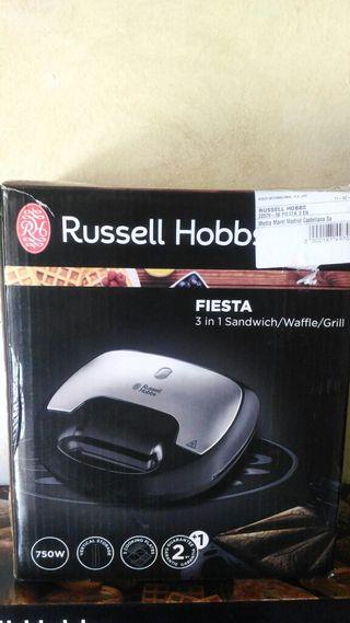 Sandwichera Gofres Grill RUSSELL HOBBS (Garantía)