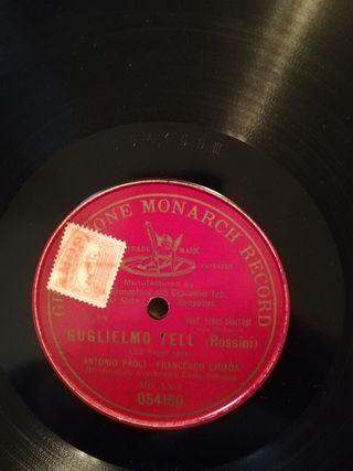 Disco pizarra gramófono. Guglielmo Tell. ROSSINI.
