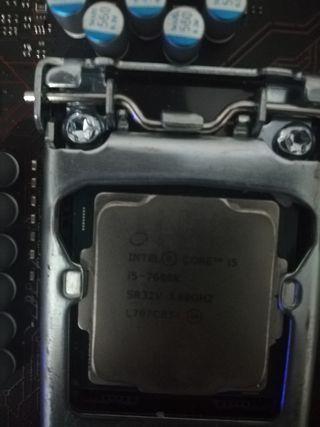 placa base msi b250 gaming pro, i5 7600 k