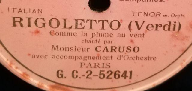 Italian tenor. Disco pizarra gramófono