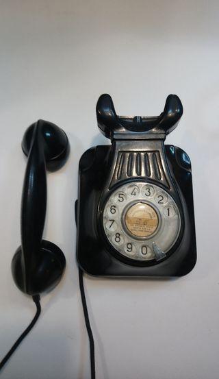 Antiguo teléfono baquelita Compañía telefónica