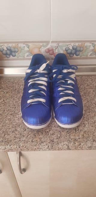zapatillas Adidas superstar galactic blue
