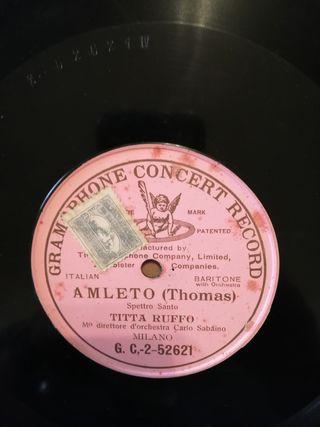 Amleto. Thomas. Disco pizarra gramófono