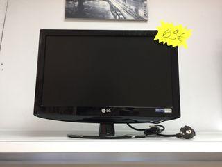 "TV LG 19"" TDT HDMI MANDO FUNCIONANDO"