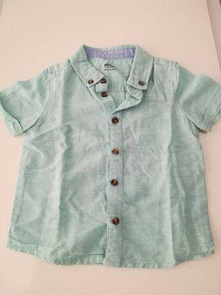Camisa como nueva niño m/corta Talla 12-18 meses