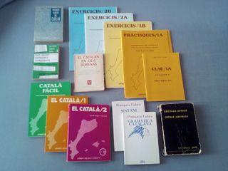 Curso/Lote de 15 libros para aprender Catalán