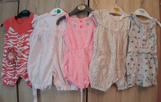 girls 0-3 romper/playsuit bundle