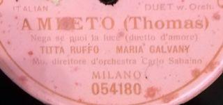 Italian duet. Disco pizarra gramófono