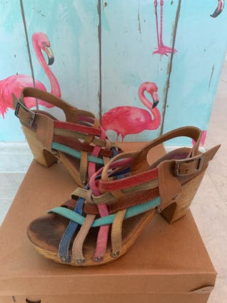 Zapato tiras colores N°37