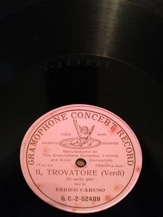 Il trovatore. Disco pizarra gramófono