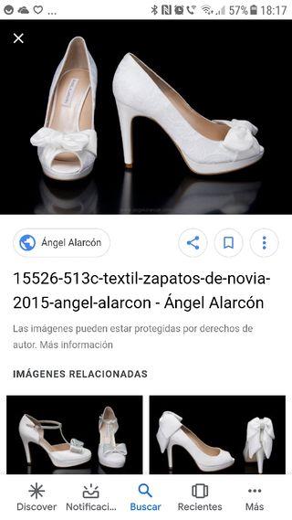 522b772d8 Zapatos de novia sin tacón de segunda mano en WALLAPOP