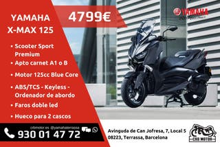 Yamaha X-Max 125 ABS - Financiación TIN 0%