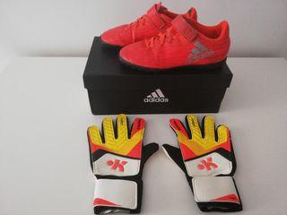 Botas fútbol Adidas T. 31