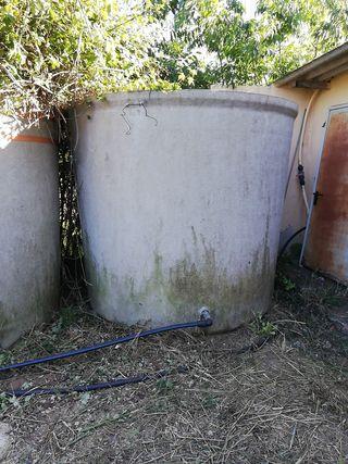 2 Depósitos agua 5.000 litros
