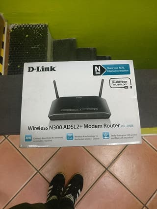 router d-link wifi n300 adsl2+. punto de acceso