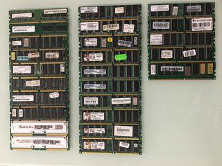 Lote de memorias RAM
