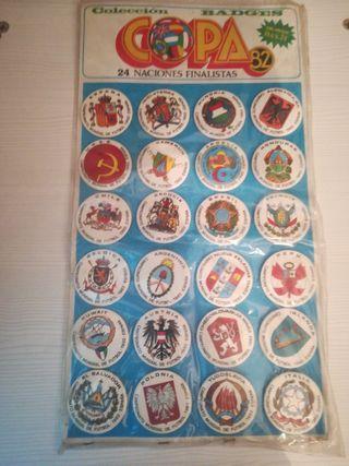 Mundial España 1982. Colección Badges. Chapas.