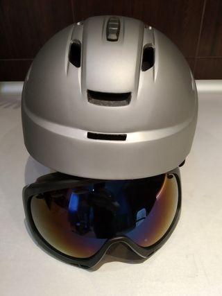 Casco y gafas esquí y snowboard