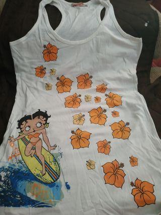 Camiseta Betty Boop surfera talla M sin estrenar