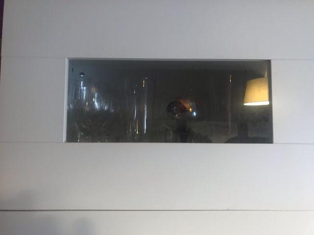 Mueble de salón Ikea Besta-Framsta de color blanco