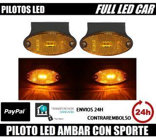 PILOT LED AMBAR CON SPORTE 12V 24V GALIBO POSICION