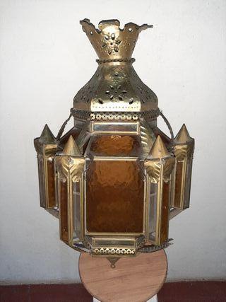Lampara Exagonal Vintage S. XVIII