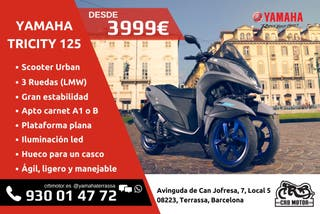 Yamaha Tricity 125 (Sin ABS) Financiación 0% TOTAL