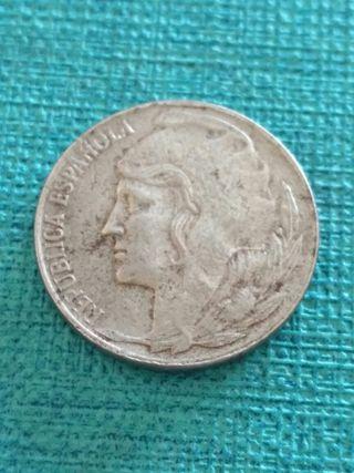 Moneda de 5 centimos 1937