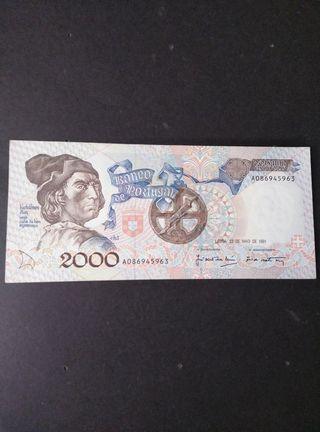 Portugal 2000 escudos. EBC