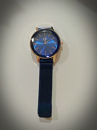 7eae77614a9f Reloj Cs magnético Acero 316L Azul Hipoalergénico