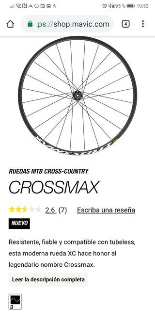 Juego de ruedas Mavic Crossmax