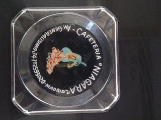cenicero cristal publicidad cafetería años 60