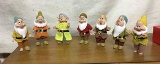 7 Muñecos de los 7 Enanitos - 12 cm de altura.