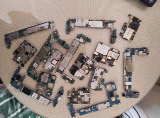 Lote de 15 Placas Base con fallos-Samsung,Huawei..